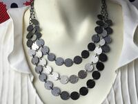 black and silver beaded necklace Palm Springs, 92264