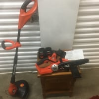 18 V Black & Decker chainsaw and Weedwhacker