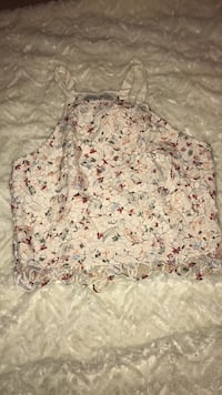 white and pink floral spaghetti strap top Edmonton, T6W 2J6
