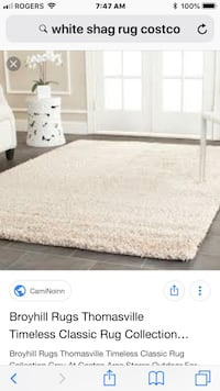 Excellent condition shag rug  Barrie, L4N 6L3