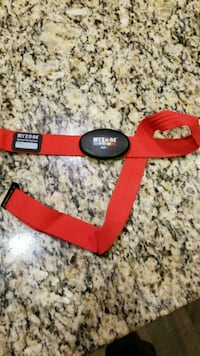 red and black leather belt Calgary, T2Z 0V7