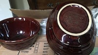 Brown ceramic bowl set dishes as well very old  Birmingham, 35233