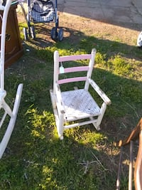 Toddler solid wood rocking chair,