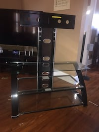 black and gray TV stand Penns Grove, 08069