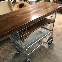 Shopping cart table/island
