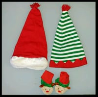 12-18mths -- Gymboree Christmas Hats and Booties 575 km