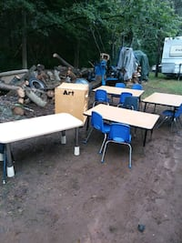 Preschool tables and chairs and art cubbie Charlotte, 28215