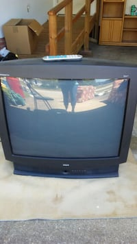 black RCA TV with remote Dunn, 28334