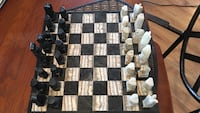 Black and white marble chess game set Fort Riley, 66442