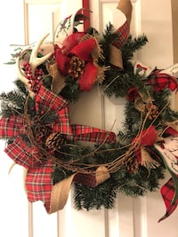 red and green Christmas wreath Lorton, 22079