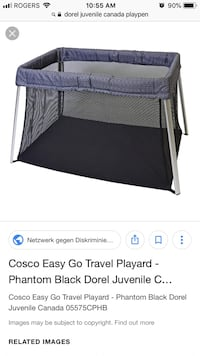 Black and gray travel cot Toronto, M6L 2E1