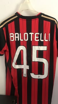 A.C. Milan Home Jersey #45 Balotelli Sterling, 20165