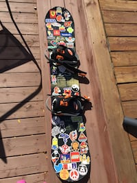 Used Dakine Snowboard. 149cm With Size 10 K2 Boots Burlington, L7L 4J6