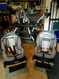 Graco Snugride Click Connect and Double Stroller