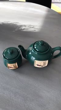 Tea Pot and Sugar container duo.