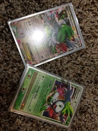 two Shaymin Pokemon trading cards
