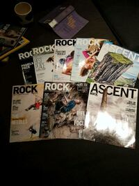 assorted rock and ice / ascent magazines