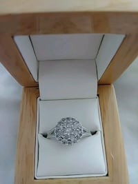 Real diamond silver ring Warr Acres
