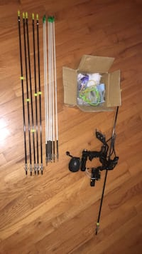 Bowfishing slingshot with 12 arrows and spare parts Toccoa, 30577