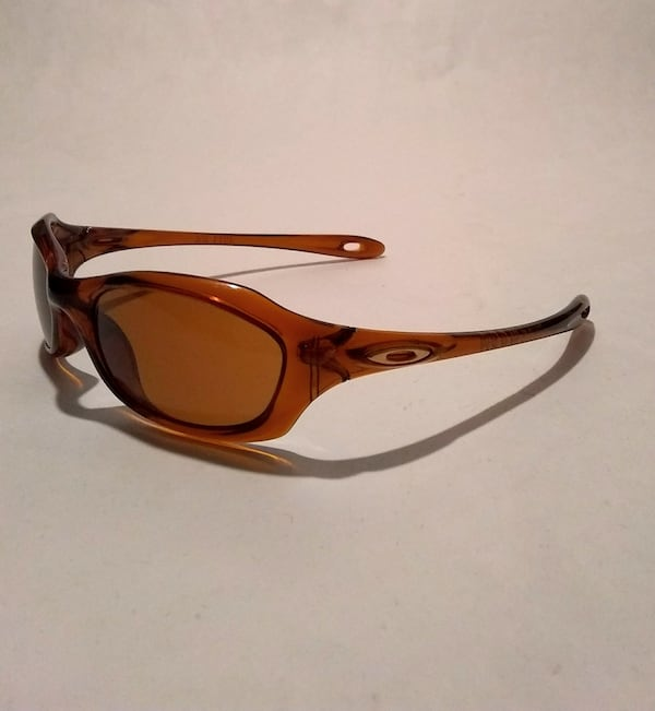 Oakley Xs Youth Kids Brown Wrap Sunglasses 0