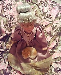 Porcelain Doll with cat Bristol, 24201
