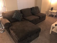 Dark brown sectional sofa  2291 mi