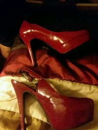 pair of red leather heeled shoes Asheville, 28801