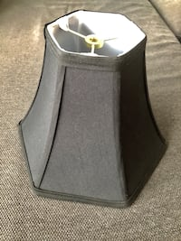 4 black lamp shades only used for 1 event