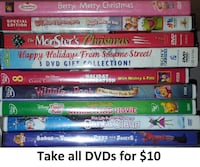 DVDs - Christmas Lot (Take all 9 for $10) Mississauga
