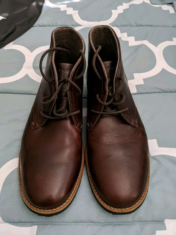 809544d7854 Men's size 9.5 Rockport leather Chukka Boots Shoes