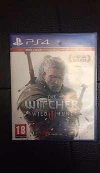 Sony ps4 the witcher wild hunt game case Toronto, M1B