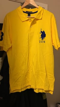 yellow and blue U.S.P.A. polo shirt size L Burlington, L7R 1J7