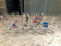 12 Footed Wine/Water Glasses most from Stage West Shows Toronto, M9C 4W1