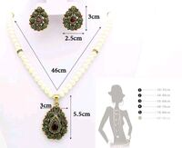 white and green floral pendant necklace Surrey, V3X 1P3