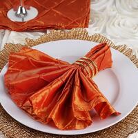 200 Orange Pintuck Napkins (Wedding, Event) Haymarket, 20169