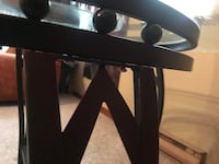 Black and gray metal frame Glass table with 3 chairs London, N6A 3C3
