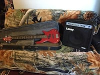 Lyon bass guitar with Laney amplifier Calgary
