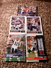 six assorted football trading cards Bristol, 37620