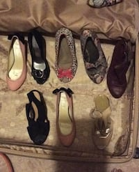 Assorted ladies shoes