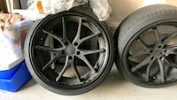 Wheels and tire package