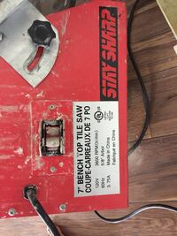 Tile saw used only once  Surrey, V3S 6A2