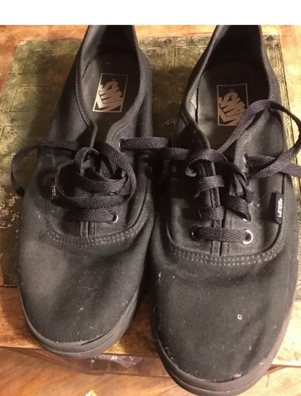 428ccf8ddd85a6 Vans Off the Wall 9 Men s 10.5 Womens All Black Skate Shoes Tb9c Excellent  Shape