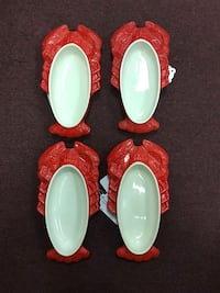 Vintage Hall Chinese Red Lobster Shaped Casserole Baking Dish No.234 Nashua, 03060