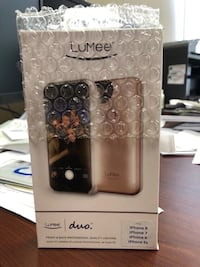 *NEW* Lumee Duo Case iPhone 8,7,6,6s Front & Back Professional Quality Lighting Whitby