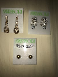 three pairs of silver earrings Miami, 33136