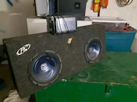 black and gray subwoofer speaker Calgary, T2A 1N4