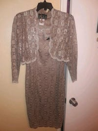 women's brown floral cardigan and dress Pasadena, 77503