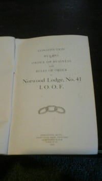 1909 lodge book  Edmonton, T5M 0S1