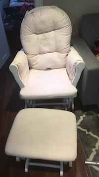 white padded glider chair with ottoman Markham, L3S 4H1
