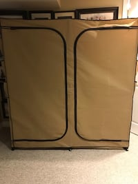 Perfect condition portable closet. I'm adding a free shoe rack with it
